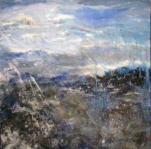 Ocean's Edge, 30x30,, oil on canvas